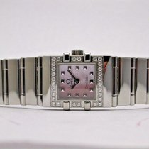 Omega Constellation Quadra Mini Ladies Watch Pink Mop Dial Ss...