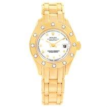 Rolex Pearlmaster 18k Yellow Gold Diamond Ladies Watch 69318