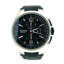 Alpina Racing Acero 45mm Negro Sin cifras