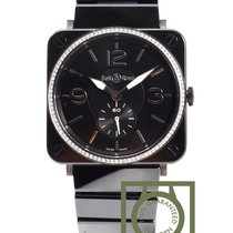 Bell & Ross Black Ceramic diamond case Ceramic strap NEW