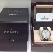 Zenith 40mm Automático nuevo Elite Ultra Thin Plata