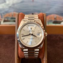 Rolex Day-Date 40 Or blanc 40mm Argent Romain France, Cannes