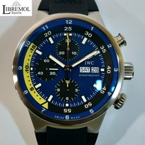 IWC Aquatimer Chronograph pre-owned 44mm Blue Chronograph Date Rubber