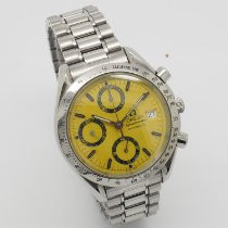Omega Speedmaster Date Steel 39mm Yellow No numerals United States of America, New York, Forest Hills