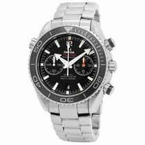Omega Seamaster Planet Ocean Chronograph pre-owned 45.5mm Black Date Steel