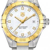 泰格豪雅 钢 27mm 石英 WAY1451.BD0922TAG HEUER Aquaracer Yellow Gold Plated Detail 全新
