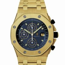 Audemars Piguet Yellow gold Automatic Blue 42mm pre-owned Royal Oak Offshore Chronograph
