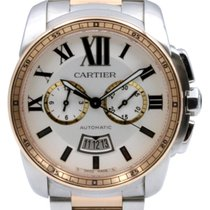 Cartier Calibre de Cartier Chronograph Stahl / RG