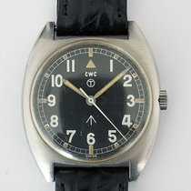 CWC 36mm Manual winding 1973 pre-owned Black