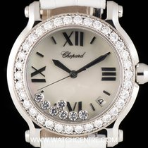 Chopard S/S Mother Of Pearl Dial Happy Diamonds B&P...