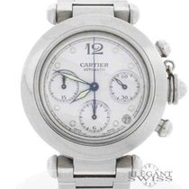 Cartier Pasha Chronograph Automatic Stainless Steel White Dial...