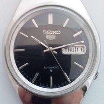 Seiko 5 Black 17J SERVICED 6/1985 automatico automatik...