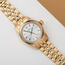 Rolex Oyster Perpetual 26 Yellow gold 26mm Silver