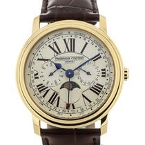 Frederique Constant Classics Business Timer neu 40mm Gold/Stahl