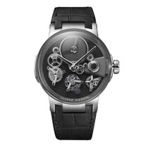 Ulysse Nardin Executive Skeleton Tourbillon White gold 44mm Black