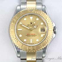 Rolex Yacht-Master Gold/Stahl 35mm Champagnerfarben Keine Ziffern