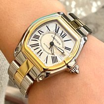 Cartier Roadster Gold/Steel 37mm White Roman numerals