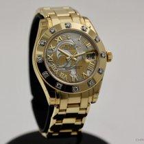 Rolex Pearlmaster Žluté zlato 34mm Perleťová Římské