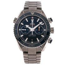 Omega Seamaster Planet Ocean Chronograph Titanium 45.5mm Blue No numerals