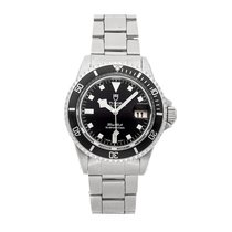 Tudor Submariner Acero 40mm Negro