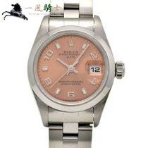 Rolex Oyster Perpetual Lady Date Сталь 24mm Розовый