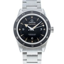 Omega Steel Automatic Black 41mm pre-owned Seamaster 300