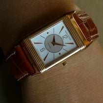 Jaeger-LeCoultre Rose gold Manual winding Silver No numerals 23mm pre-owned Reverso Classique