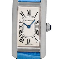 "Cartier ""Tank Americaine"" Strapwatch."