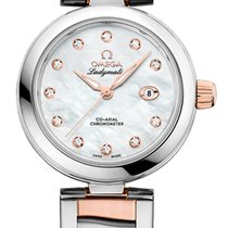 Omega De Ville Ladymatic Gold/Steel 34mm Mother of pearl United States of America, New York, Airmont