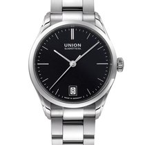 Union Glashütte Viro Date Steel 34mm Black No numerals