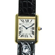 卡地亚 (Cartier) Tank 18 K Yellow Gold Silvery White Quartz W5200002
