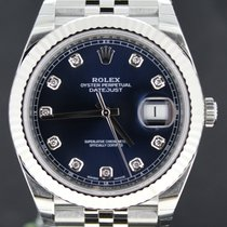 Rolex Datejust 41MM Jubilee Band, Blue Diamond Dial, Full Set