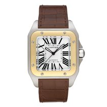 Cartier Santos 100 Large Model Two Tone Watch