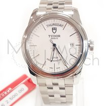 Tudor Steel Automatic White 39mm new Glamour Date-Day