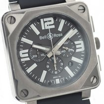 Bell & Ross Titanium Automatic Grey 46mm pre-owned BR 01-94 Chronographe