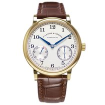 A. Lange & Söhne Yellow gold Manual winding Silver 39mm new 1815