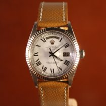 Rolex Day-Date 36 pre-owned 36mm Silver Date Leather