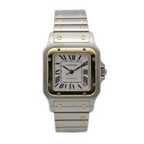 Cartier 2823 Gold/Steel 2010 Santos Galbée 32mm pre-owned United States of America, New York, New York