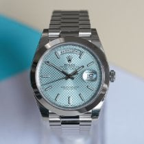 Rolex Day-Date 40 Platinum 40mm Blue United Kingdom, London