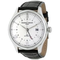 Frederique Constant Classics Index GMT Steel 42mm Silver Roman numerals United States of America, New Jersey, Somerset