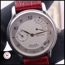 Zenith Elite Power Reserve Platinum 36mm Silver Arabic numerals