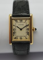 Cartier Tank Divan XL 38mm massiv 18K Gelbgold