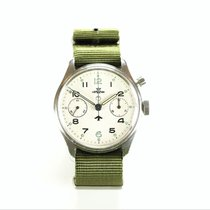 Lemania Series I Military Chronograph Wristwatch c.1945