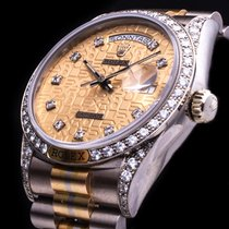 Rolex Day Date Tridor 18kt. Gold  Factory Diamonds LC 100