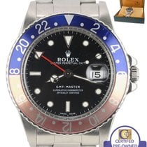 Rolex GMT-Master Pepsi Blue Red FADED Stainless 16750 40mm Date