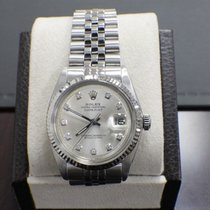 Rolex Oyster Datejust 1601 Stainless Steel Diamond Dial...