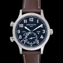 Patek Philippe Travel Time White gold 42mm Blue United States of America, California, San Mateo