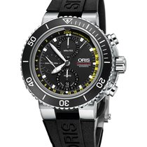 Oris 01 774 7708 4154 Steel Aquis Depth Gauge 48mm new
