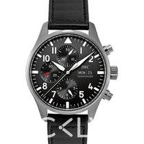 万国  Pilot's Watch Chronograph Black/Leather 2016 - IW377709