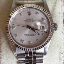 Rolex Zilver Automatisch Zilver Geen cijfers 36mm tweedehands Datejust